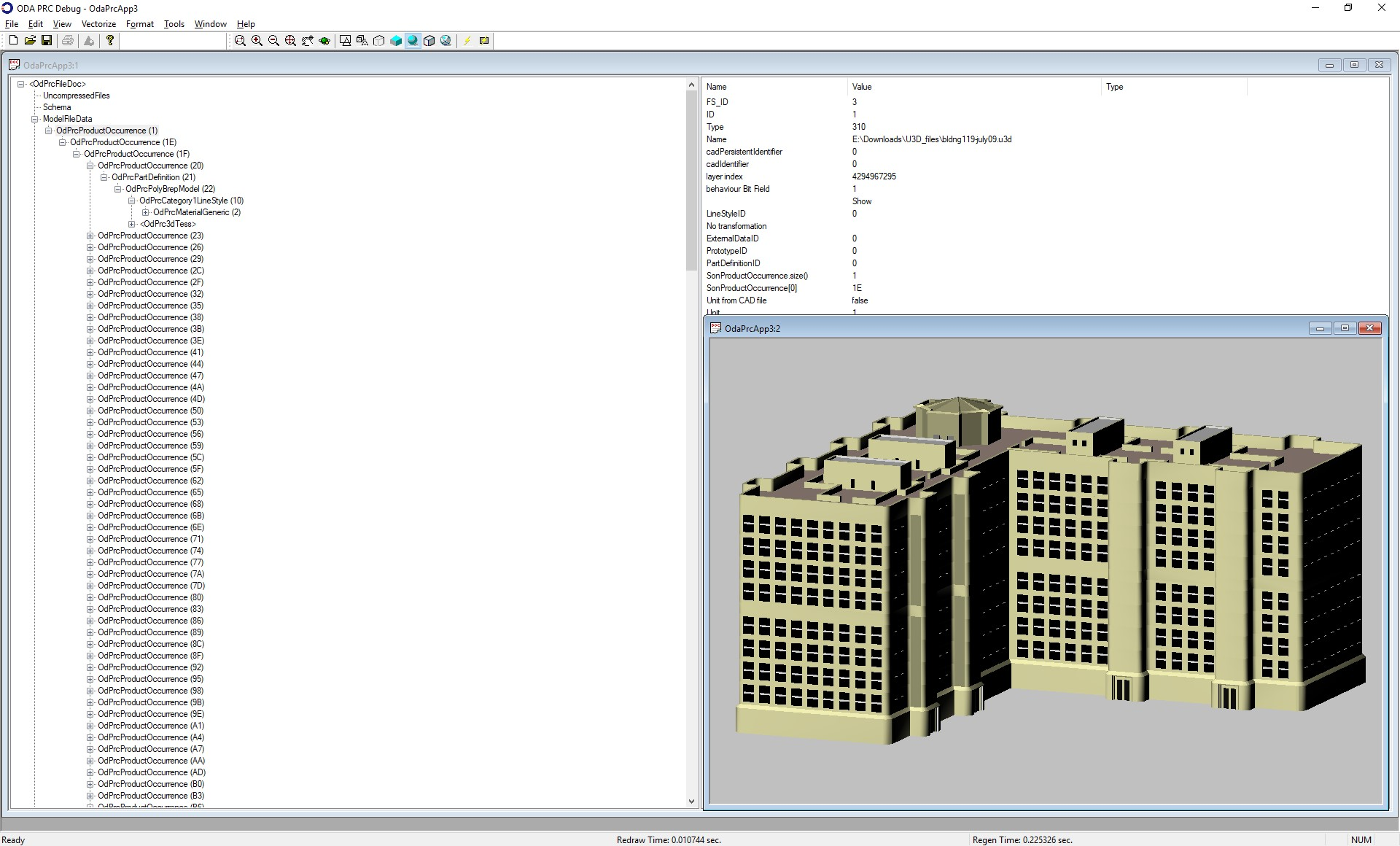 OdU3D2PrcImport module